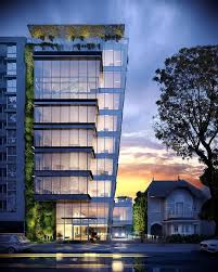 office facade. simple facade construction is now on hold for financial factors lots of buildings  earth today which are considered representatives modern architecture  on office facade