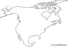 North America Coloring Sheet Free Printable Blank Map Of North