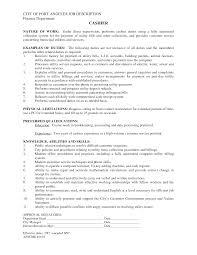Cashier Job Duties For Resume Berathen Com