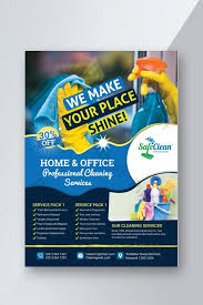 Commercial Cleaning Flyers Home And Office Cleaning Service Flyer Template Ai Free