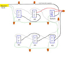 wiring diagram help electrical diy chatroom home improvement forum i want the switch located and where the power source is it doesn t seem practical to put the switch first in the run although looking at my diagram i