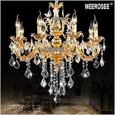classic crystal chandelier candle lighting fixture golden or silver re crystal hanging lamp md8861