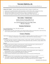 Rn Grad Nursing Resume Samples New Grad Resume Examples 2017 New