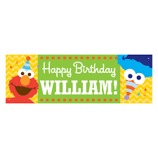 Happy Birthday Banners Personalized The Official Pbs Kids Shop Sesame Street Elmo And Cookie Monster