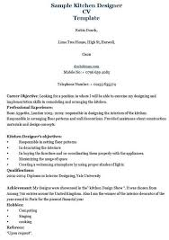 Kitchen Designer Resume