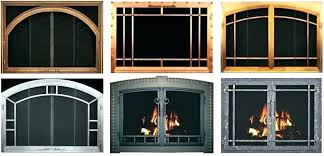 fireplace glass door replacement glass door fireplace packed with post to make perfect gas fireplace