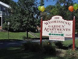 wyomissing garden apartment entrance sign