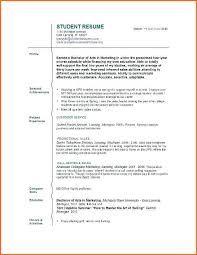 Resume For College Student With Little Work Experience 27516