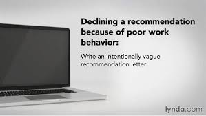Decline To Write A Letter Of Recommendation Refusing To Write A Recommendation