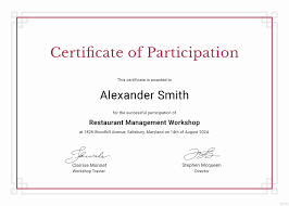 Certificate Of Participation Templates Certificate Of Participation Sample Design 40 Fantastic