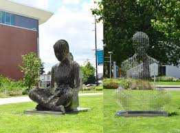 Metal sculptures that almost vanish in front of you | amazing.zone