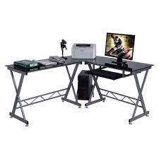 top quality office desk workstation. L-Shape Computer Desk PC Glass Top Laptop Table Workstation Corner Home Office HW51360+ Quality K