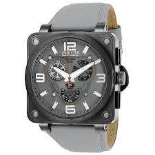 invicta corduba men s grey dial leather band watch 23554