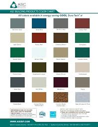 Metal Building Colors Chart Metal Roofing Colors Available 890m Co