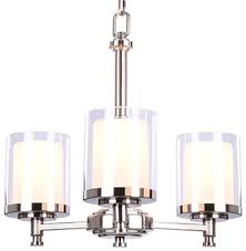 hampton bay 3 light brushed nickel chandelier bathroom chain metal hardwired