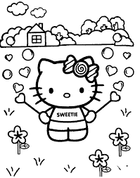 Small Picture Coloring Pages Hello Kitty Coloring Pages Coloring Kids Hello