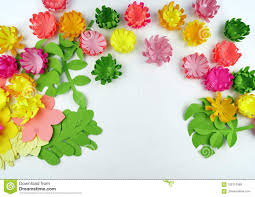Flower Made In Paper Flowers Made Of Paper Paper Flower Spring Stock Photo