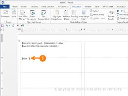 how to print labels from excel how to print barcodes with excel and word clearly inventory