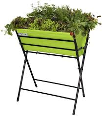 folding raised garden bed elevated planter patio porch deck vegetable flower new