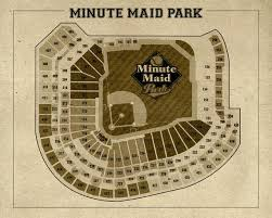 Astros Seating Chart 2017 Vintage Print Of Minute Maid Park Seating Chart Houston Astros Baseball Blueprint On Photo Paper Matte Paper Or Stretched Canvas