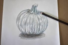 pumpkin drawing with shading. pin drawn pumpkin shading #7 drawing with c
