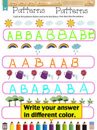 Kids Math-Patterns Worksheets(Grade 1) (iPad) reviews at iPad ...