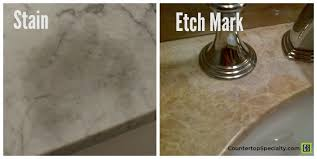 marble stain compared to marble etching on honed carrara marble countertops