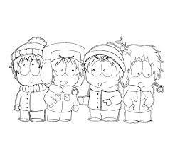 South Park Coloring Pages To Print Free Coloring Pages