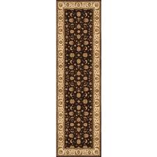 home dynamix triumph brown beige 3 ft x 11 ft indoor runner rug