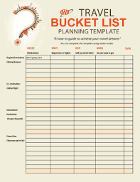 Bucket List Printable Template Bucket List Templates Major Magdalene Project Org