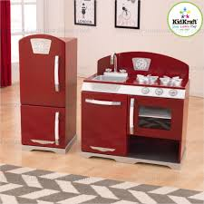 2 Piece Retro Kitchen Cranberry Two Piece Retro Kitchen And Refirgerator 53297