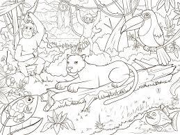 De La For T Jungle Livre De Coloriage De Dessin Anim Image