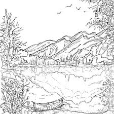 Simple Christmas Mountains Coloring Pages 19 Serenity Jasper