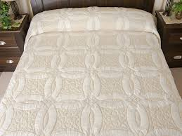 Double Wedding Ring Quilt -- great carefully made Amish Quilts ... & King All Neutrals Double Wedding Ring Quilt Photo 1 ... Adamdwight.com