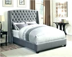 Grey Tufted Bed Frame Queen In H M S Remaining Home Improvement ...