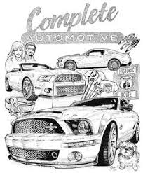 Small Picture Mustang Classic Coloring Page colouring pages for males