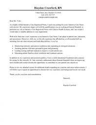 Nursing Cover Letter Example New Grad Sample For Senior Nurse