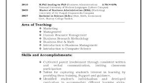 Example Resumes For Teachers Teacher Sample Resumes Teacher Example Sample Resume For Elementary