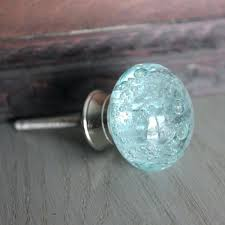 light blue glass drawer knobs with bubbles in blue sea glass cabinet knobs