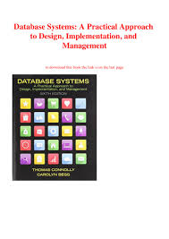 Database Systems Design Implementation And Management 6th Edition Pdf Ebook Pdf Database Systems A Practical Approach To Design