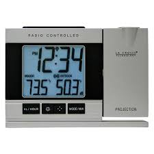 sharp atomic clock. la crosse technology radio controlled or manual projection alarm clock with temperature | hayneedle sharp atomic