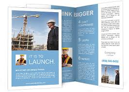 Builder Inspector Worker Checking A Construction Site Works Brochure Template
