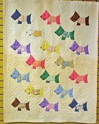 Cute Christmas Scottie Dog Quilt - Bitsy Button & Friends pattern ... & I love Scotty Dog quilts.Vintage Feed Sack Scotty Dog Hand Made Quilt Adamdwight.com