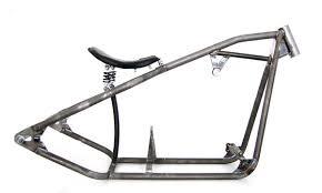 bobber frame with solo seat for harley davidson sportster driveline
