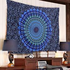 indian mandala tapestry hippie wall hanging blue bohemian bedspread home decor college tapestries college tapestry from samanthaadam1820 27 04 dhgate com