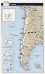 chile tourist map  chile • mappery