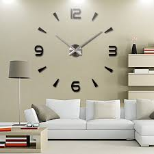 office wall clocks. modern large 3d mirror surface wall clock sticker home office room diy decor clocks