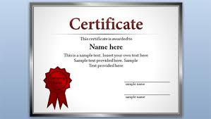 Online Certificates Free Free Certificate Template For Powerpoint 2010 2013