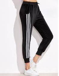 adidas velvet. pants black white joggers sweatpants adidas velvet p