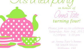 Kids Tea Party Invitation Wording Baby Shower Tea Party Invitations Invitation Wording Kitchen Inv